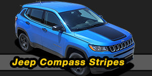 2017 2018 2019 2020 Jeep Compass Vinyl Graphics Decals Stripe Package Kits