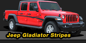 2020-2021 Jeep Gladiator Vinyl Graphics Decals Stripe Package Kits