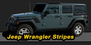 2007-2017 Jeep Wrangler Vinyl Graphics Decals Stripe Package Kits