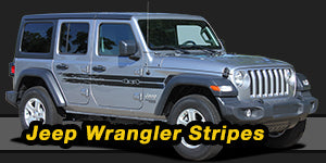 2018-2020 Jeep Wrangler Vinyl Graphics Decals Stripe Package Kits