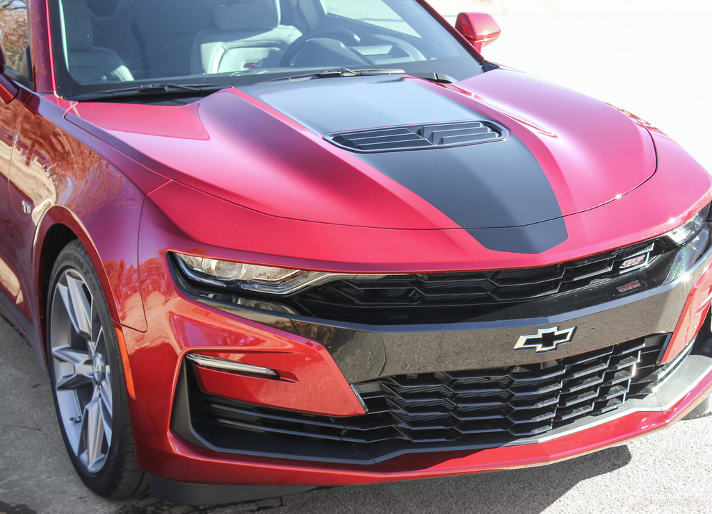 2019 Chevy Camaro Racing Stripes Overdrive Center Decals Vinyl Graphics Kit Wide Hood Roof Trunk Spoiler Rally