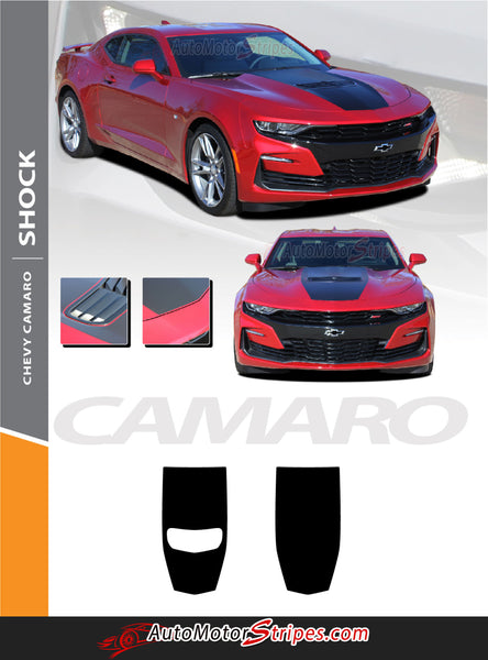 2019 Chevy Camaro Stinger Hood Decal, Camaro Hood Stripes Graphic | SHOCK | Auto Motor Stripes ...