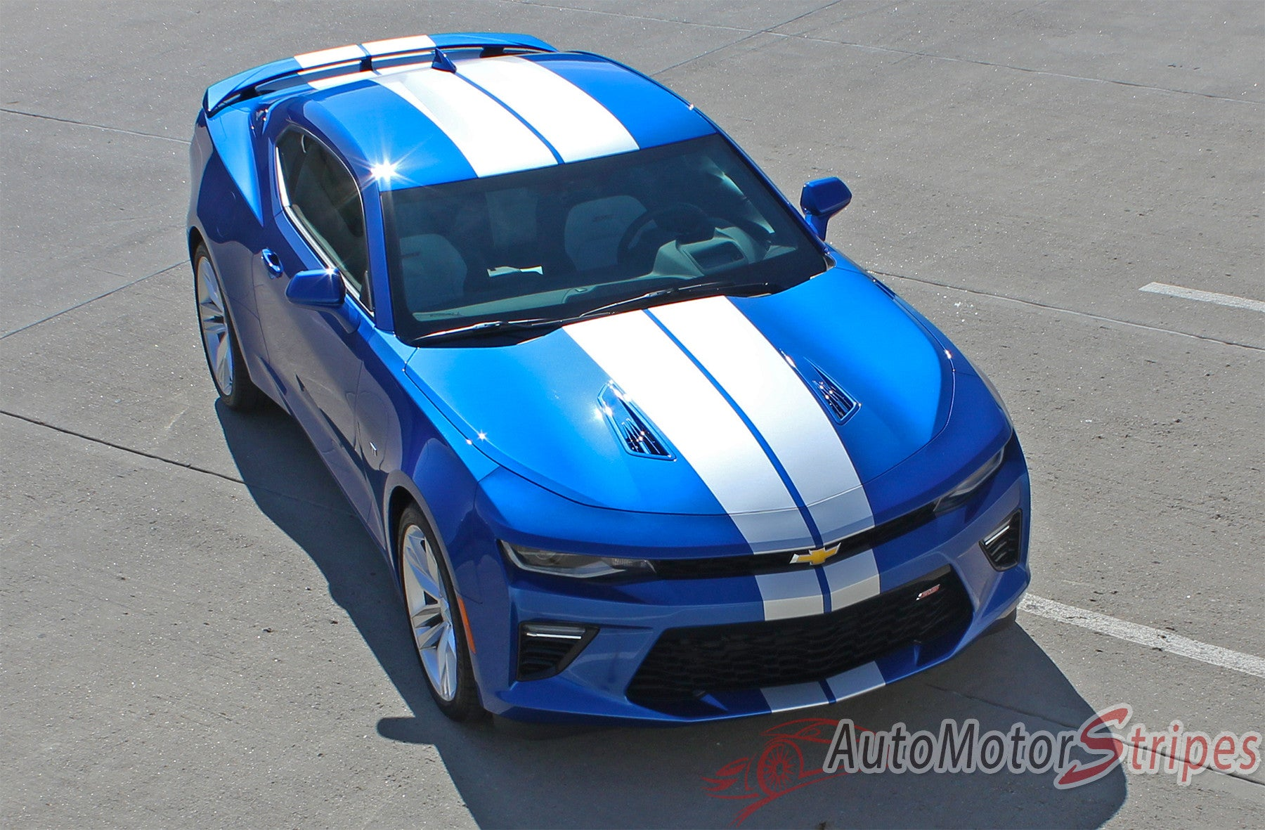 2018 2017 2016 Chevy Camaro Racing Stripes Graphics Hood