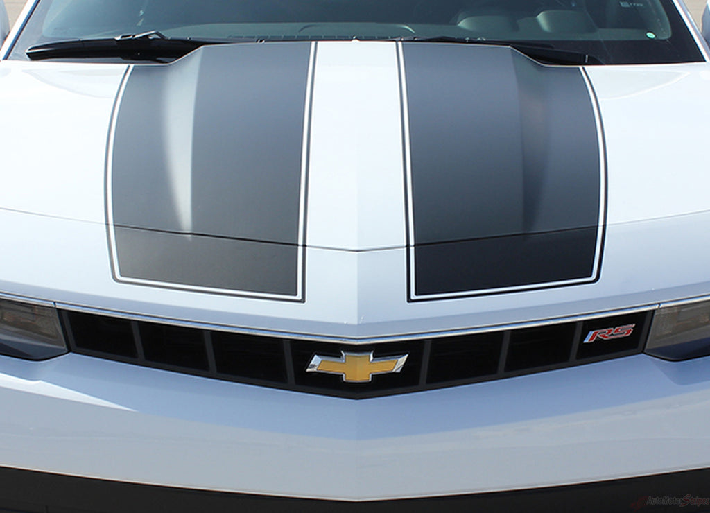 2014-2015 Chevy Camaro Bumblebee Factory Style Rally Racing Stripes 3M Kit for V6 Models Only