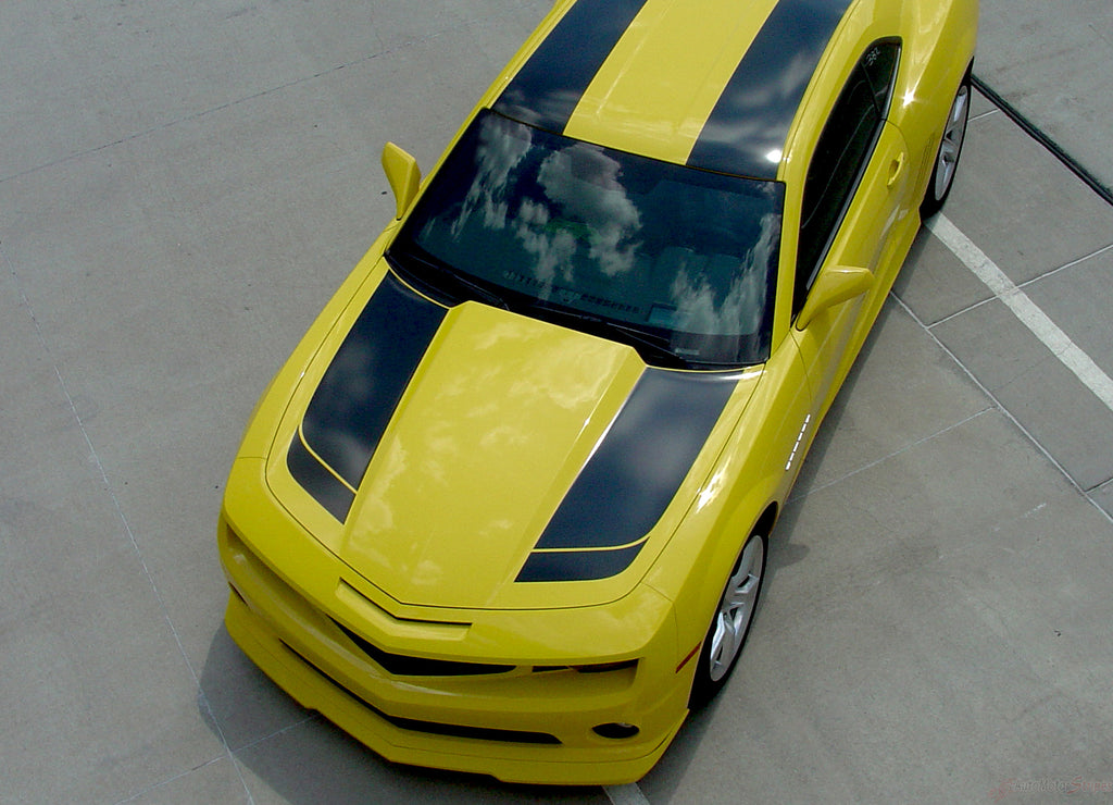 2010-2013 or 2014-2015 Chevy Camaro Bumblebee Bee 2 Transformers Style Racing Rally Stripes 3M Kit for SS, RS, LT, LS