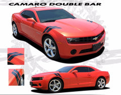 2010-2013 and 2014-2015 Chevy Camaro Hash Marks Double Bar Lemans Hood Fender Vinyl Graphics 3M Stripes Kit