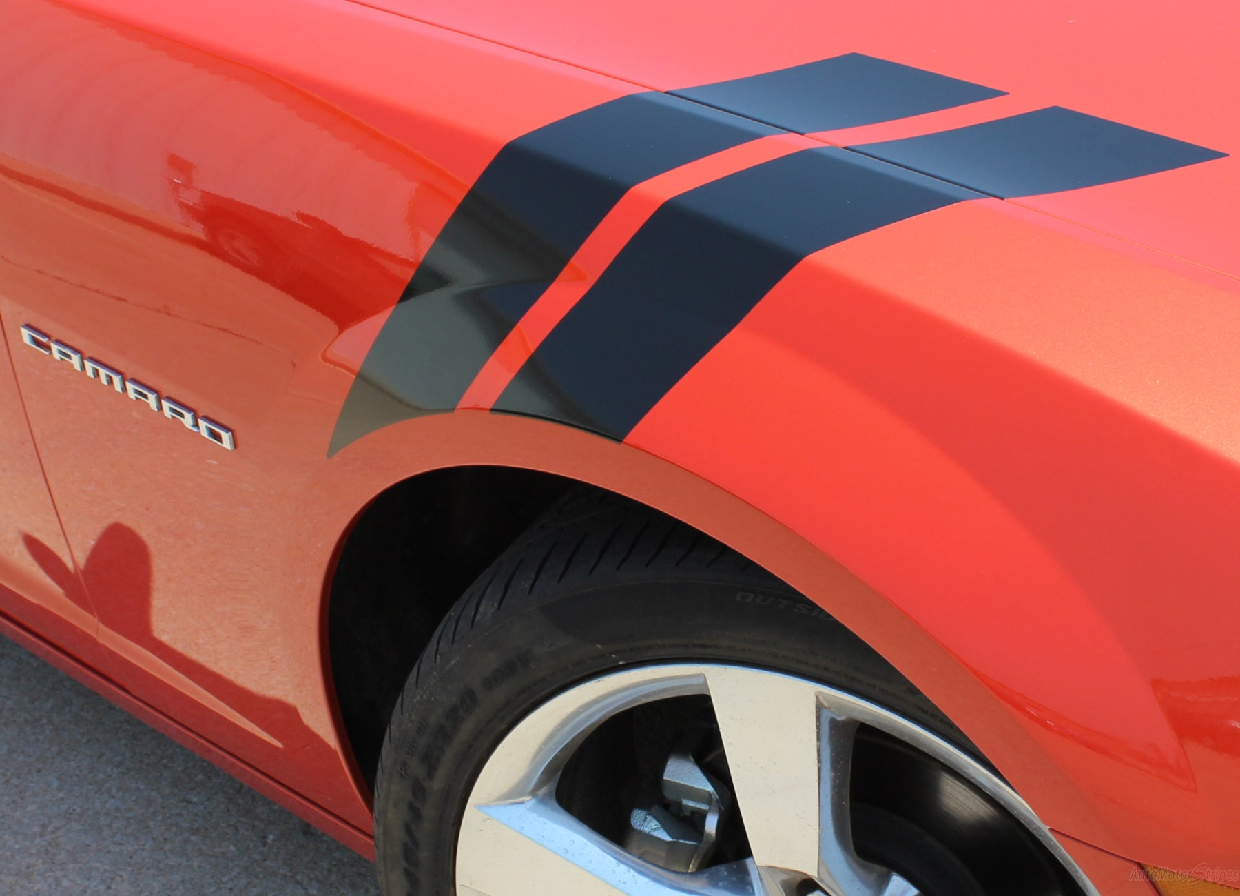FORD MUSTANG FENDER HASH STRIPES SMALL STYLE VINYL GRAPHICS DECAL 2012 2013