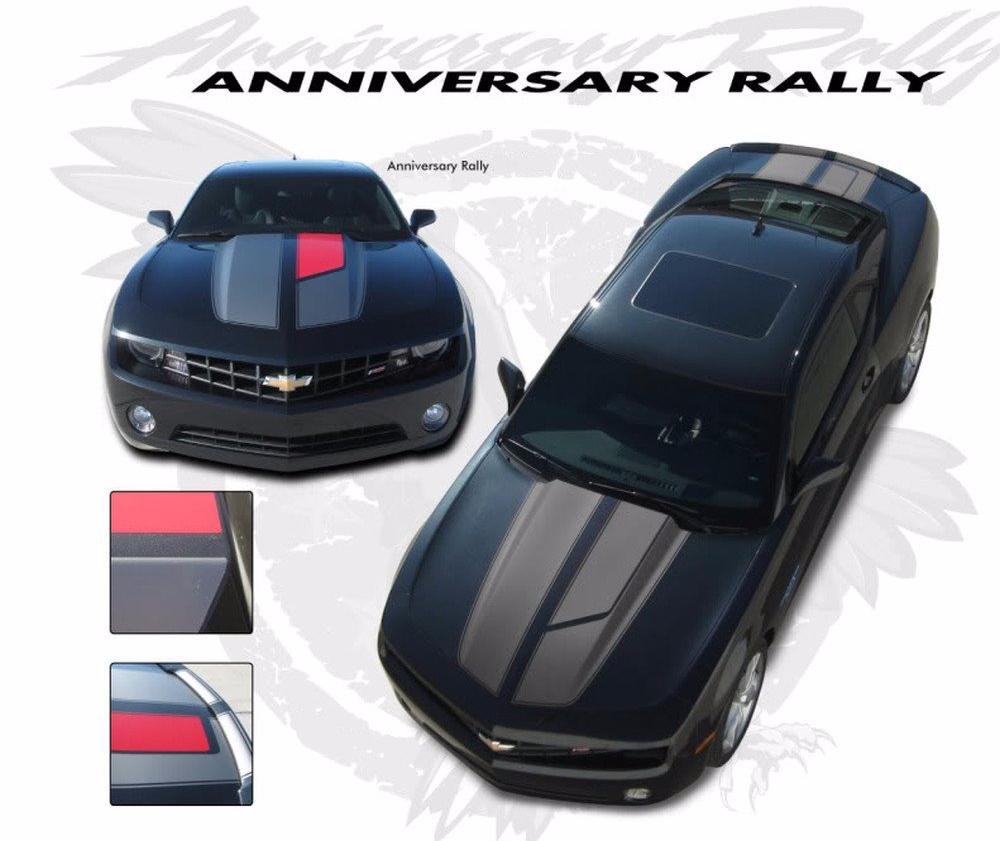 2010-2013 and 2014-2015 Chevy Camaro R-Sport 45th Anniversary OEM Factory Style SS RS Rally and Racing Stripes Kit