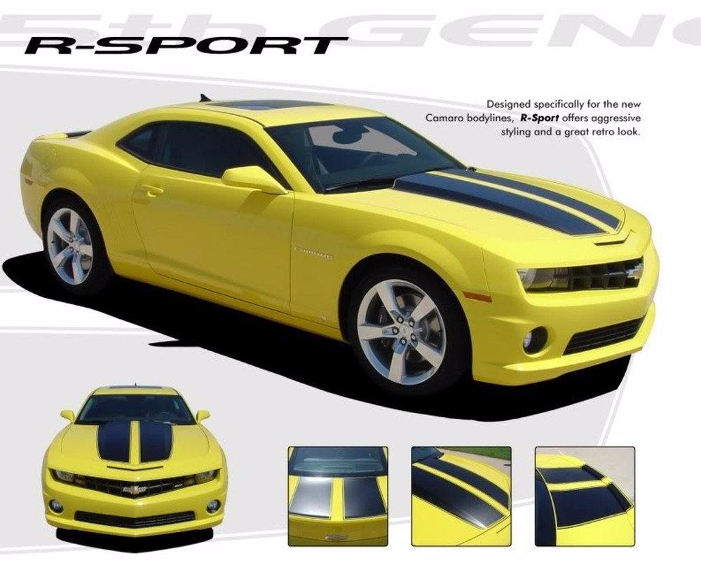 2010-2013 and 2014-2015 Chevy Camaro R-Sport OEM Factory Style 3M Rally Graphics and Racing Stripes Kit for SS, RS, LS, LT Models