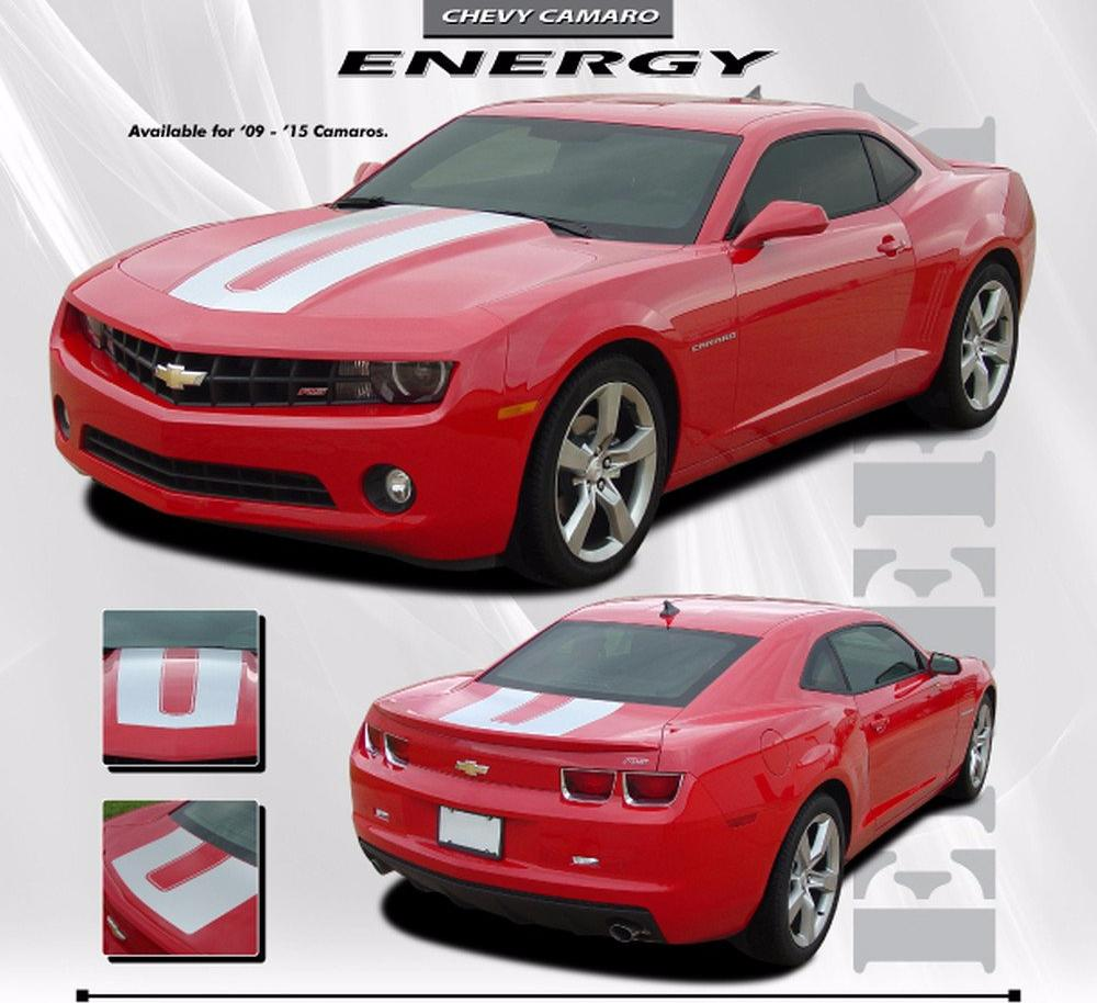 2010-2013 and 2014-2015 Chevy Camaro Energy Sema Style Wide Vinyl Stripes Kit for SS RS LT LS Models