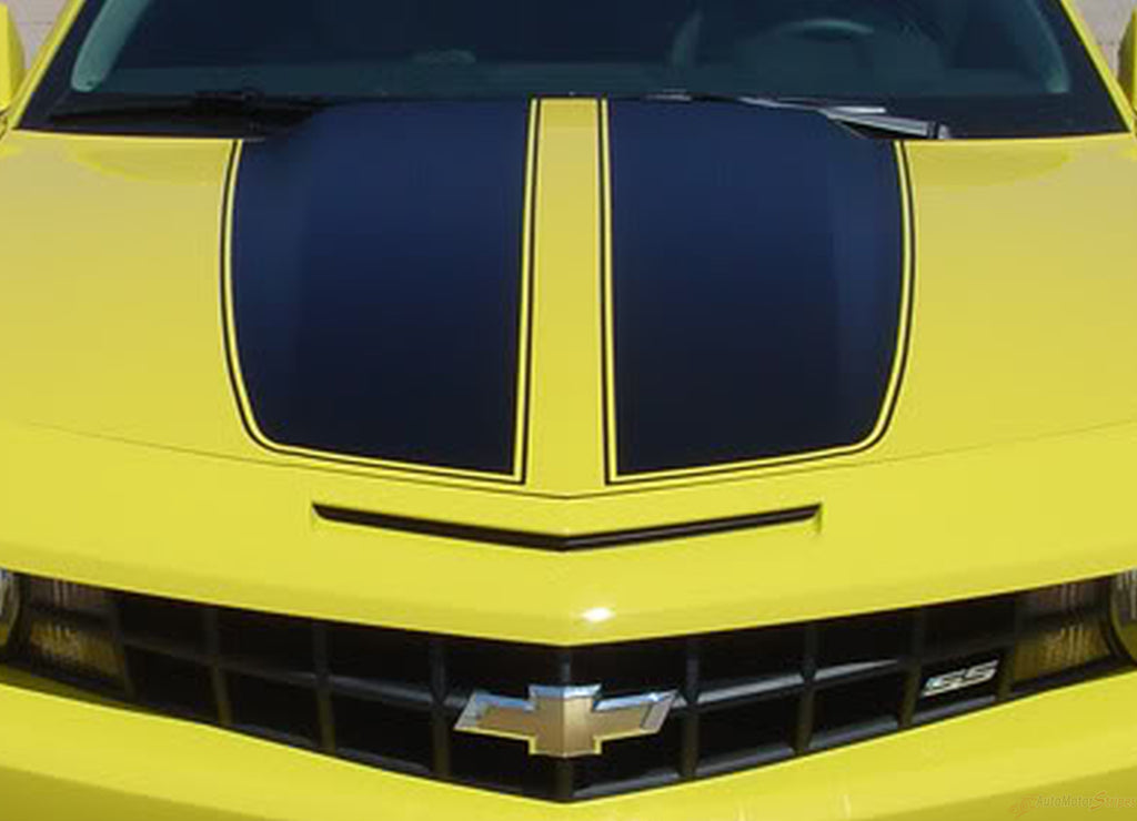 2014-2015 Chevy Camaro R-Sport 14 OEM Factory Style Rally Graphics Racing Stripes 3M Kit for LS, LT V6 Models Only