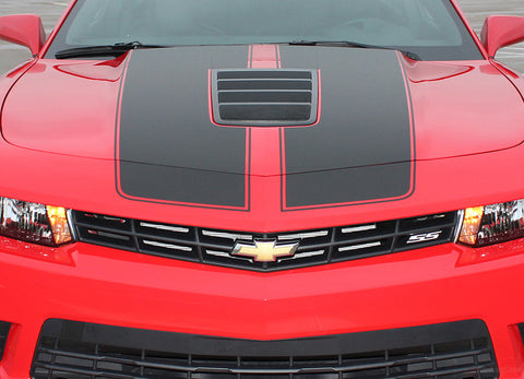 2014-2015 Chevy Camaro S-Sport OEM Factory Style 3M Rally Racing Stripes Kit for SS Models Only
