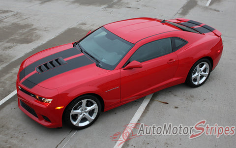 2014-2015 Chevy Camaro S-Sport OEM Factory Style 3M Rally Racing Stripes Kit - Side View