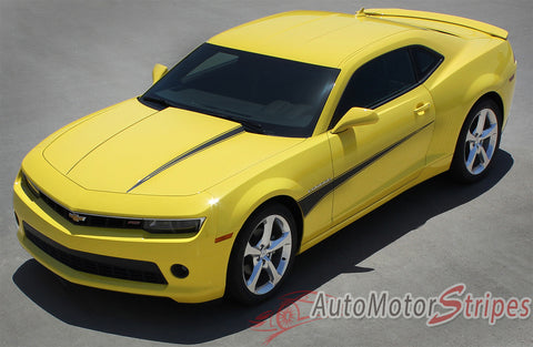 2010-2013 & 2014-2015 Chevy Camaro Switchblade Hood and Side Spear Vinyl Decal Graphics - Overview