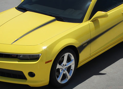 2010-2013 & 2014-2015 Chevy Camaro Switchblade Hood and Side Spear Vinyl Decal Graphics for SS, RS, LT, LS Models