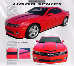 2010-2013 and 2014-2015 Chevy Camaro Hood Spears Vinyl Decal Graphics for SS, RS, LT, LS Models