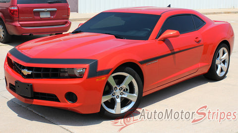2010-2013 Chevy Camaro Vintage SS RS Retro Style 3M Vinyl Stripes Kit - Front View