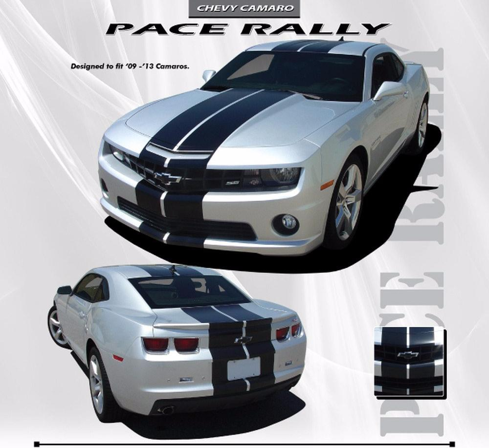 2010-2013 and 2014-2015 Chevy Camaro Pace Rally LT LS RS SS Coupe and Convertible Indy Racing Stripes 3M Vinyl Graphic Kit