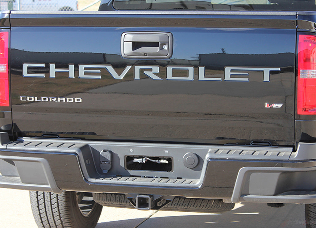 2021 Chevy Colorado Decals TAILGATE LETTERS Rear Tailgate Blackout Vinyl Graphics 3M Stripes Kit