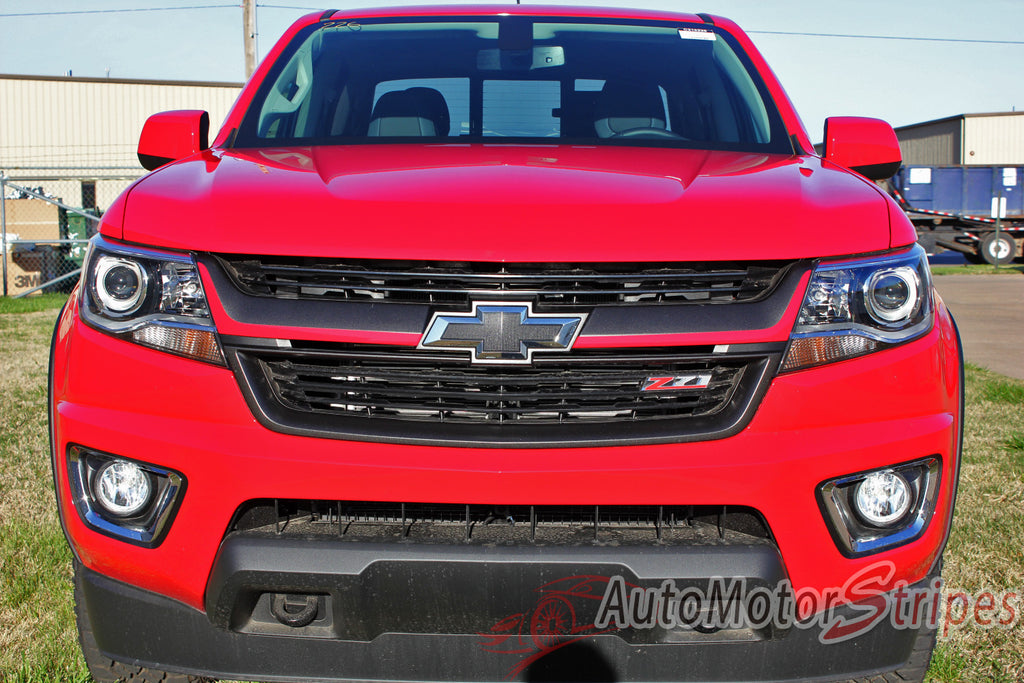 2015 2016 2017 Chevy Colorado CRESTONE Grill Accent Vinyl Graphics 3M Stripes Kit