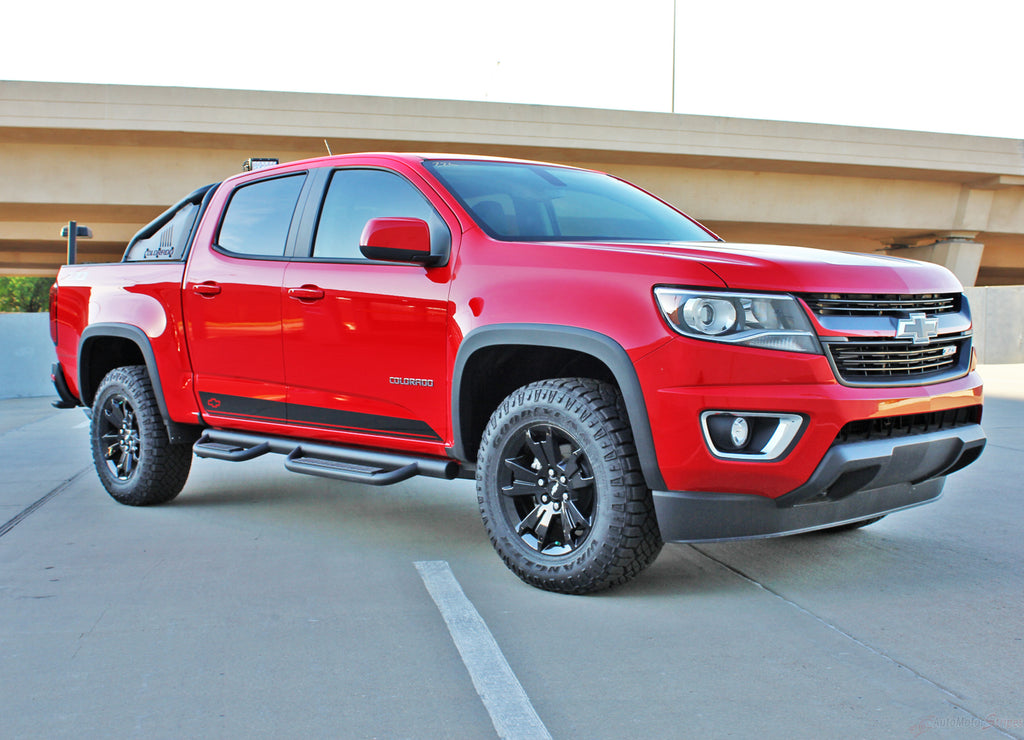 2015-2020 Chevy Colorado Stripes RAMPART Decals Lower Rocker Panel Accent Bodyside Vinyl Graphics 3M Kit