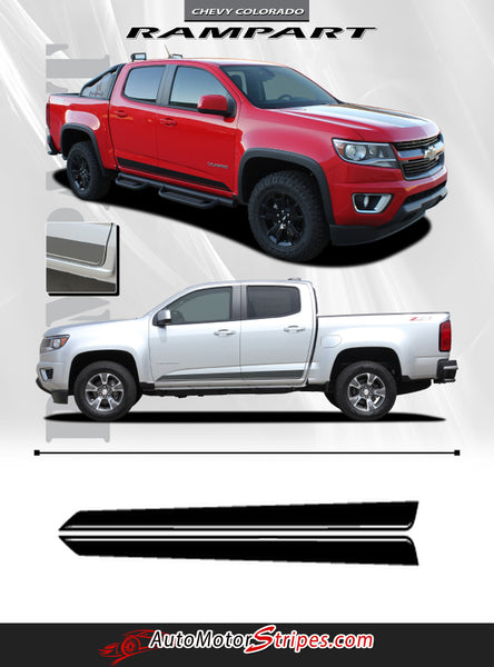 2015 2019 Chevy Colorado Stripe Rampart Vinyl Graphic