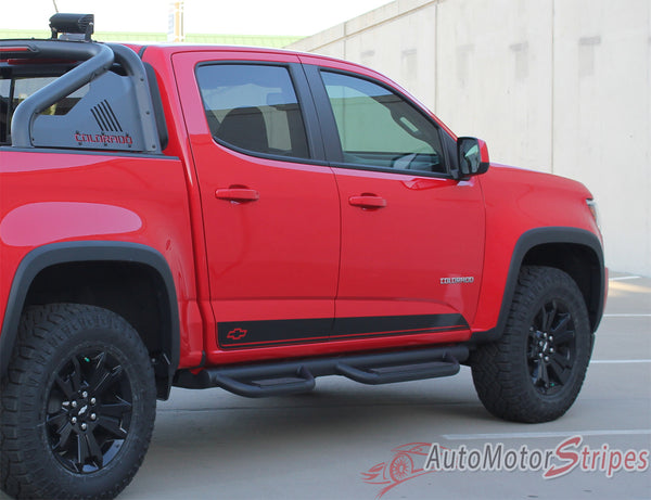 2015 2018 Chevy Colorado Stripe Rampart Vinyl Graphic