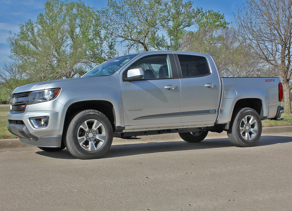 2015-2020 Chevy Colorado Stripes RATON Door Decals Lower Rocker Panel Stripe Body Side Pickup Truck Vinyl Graphics 3M Kit
