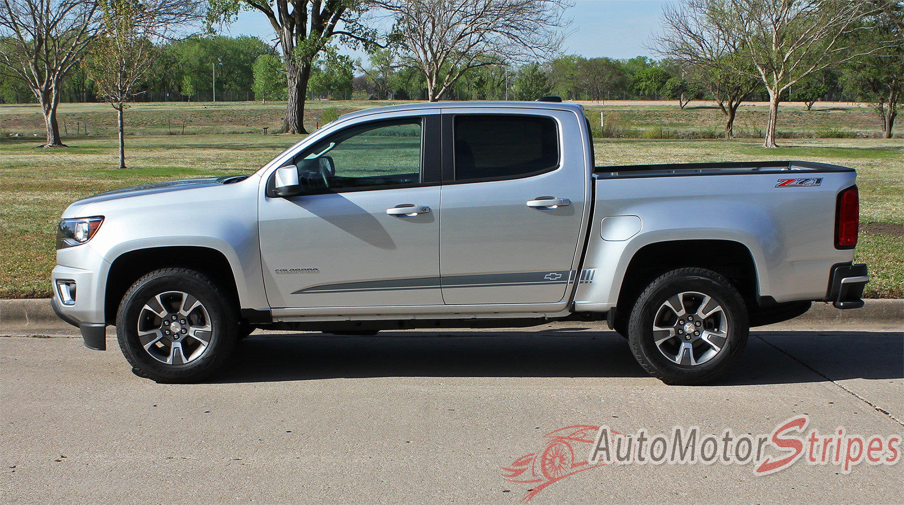 2015-2017 Chevy Colorado-GMC Canyon Extended Cab | RATON Lower Graphic Decals Stripe 2015-2017 GMC Canyon Pickup Truck