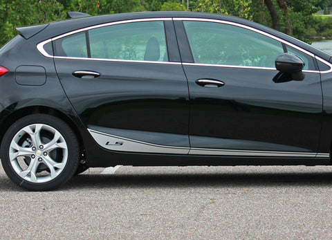 2016 2017 2018 2019 Chevy Cruze Stripes Span Rockers Lower Door Decals Vinyl Graphics 3M Kit