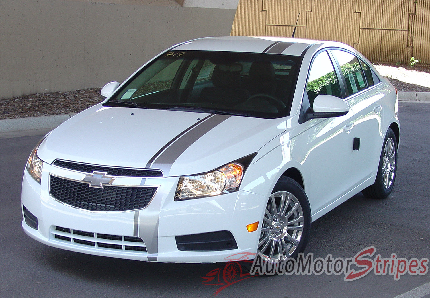 2011 2015 chevy cruze e rally euro style racing stripes hood roof trunk bumpers