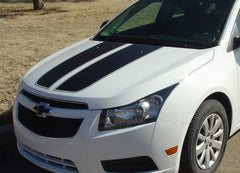 2008-2014 Chevy Cruze Cruzin Rally Racing Stripes Hood and Trunk Vinyl Graphics 3M Kit