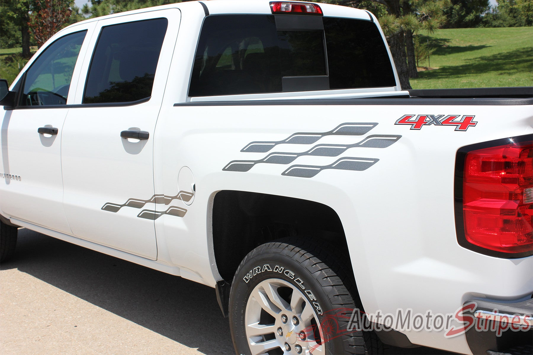 2000 2018 Chevy Silverado Decals Champ Truck Bed Side Vinyl Graphic 2015 Paint Colors 2007 2017 Flag Graphics Close Up View