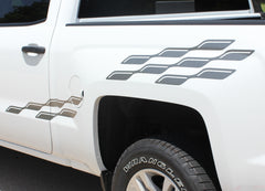 2007-2016 2017 2018 Chevy Silverado Champ Flag Truck Side Bed Vinyl Graphics 3M Stripes Kit
