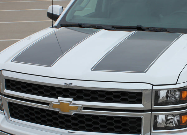 Chevy Silverado Truck Vinyl Graphics Decals Stripes Hood Rally Edition Racing Striping M Ams Rally Grande on 2005 Dodge Ram