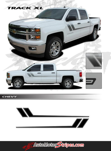 2000 2018 Chevy Silverado Stripes Track Xl Truck Side Door