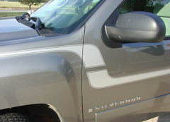 2007-2018 Chevy Silverado Flex Truck Side Door Fender Vinyl Graphic 3M Stripes Kit