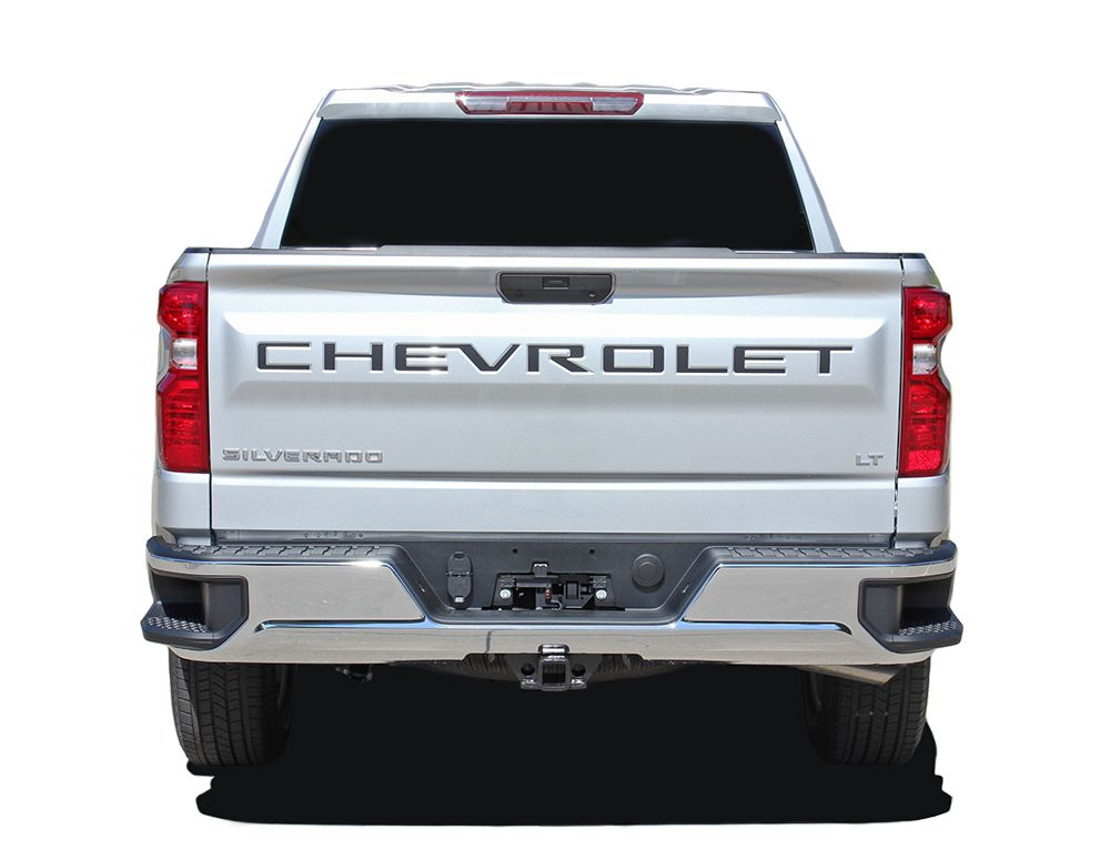 2019 Chevy Silverado Name Insert Decal Letters for Rear Tailgate 3M Vinyl Graphics Kit