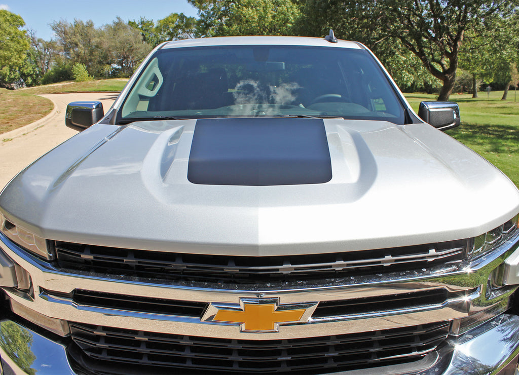2019 Chevy Silverado Trail Boss Hood Decal T-BOSS Hood Stripes 3M Vinyl Graphics Kit