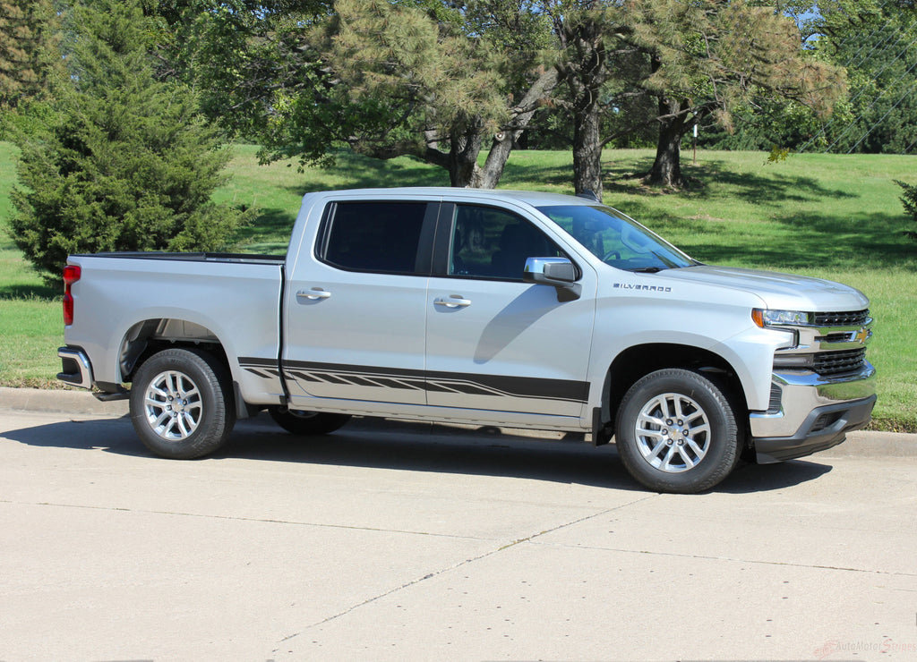 2019 2020 2021 Chevy Silverado Stripes ROCKER TWO Decals Lower Door Rocker Panel 3M Vinyl Graphics Kit