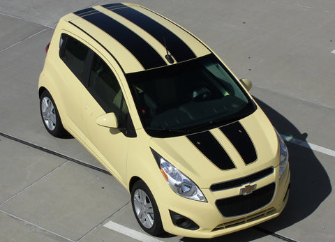2013-2016 Chevy Spark Rally Hood Roof Rear Hatch Door Racing Vinyl Graphics 3M Stripes Kit