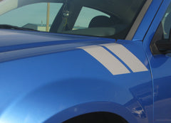 2008-2014 Dodge Avenger Hash Marks Double Bar Hood and Fender Accent Vinyl Graphic 3M Stripes Kit
