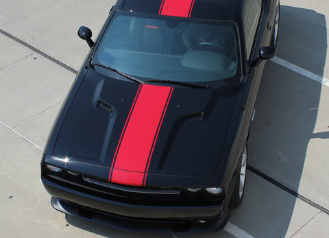 2011-2014 Dodge Challenger Finish Line Mopar Factory Style Redline Rallye Center Racing Vinyl Graphics 3M Decals