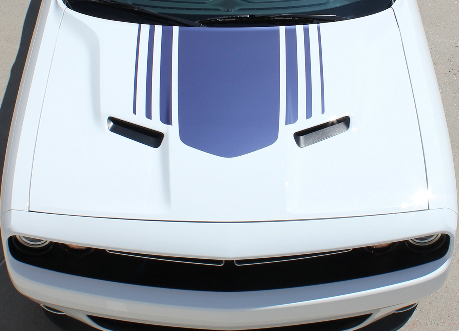 2015 2020 Dodge Challenger Hood Stripes Shaker Decals Vinyl Graphic Auto Motor Stripes Decals Vinyl Graphics And 3m Striping Kits