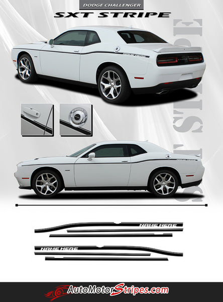 2011 2018 Dodge Challenger Door Stripes Sxt Side Decals