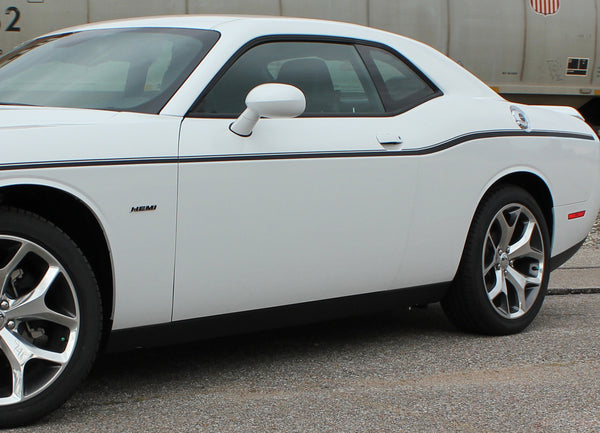 2011-2018 Dodge Challenger Door Stripes SXT Side Decals ...