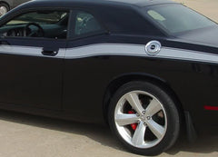 2008 2009 2010 2011 2012 2013 2014 2015 2016 2017 2018 Dodge Challenger Classic Track Mopar Factory Style Side Vinyl Graphics 3M Decals Package