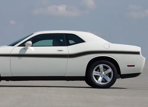 2008-2020 Dodge Challenger Beltline Mid Body Door Accent Mopar Style Vinyl Graphics 3M Decals Package