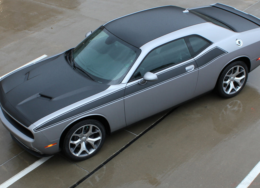 2011-2019 Dodge Challenger Pursuit T/A 392 Side Stripe Side Door Panel Body Line Vinyl Graphics Stripe Package