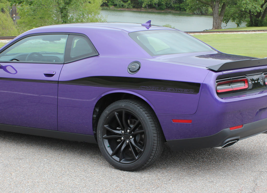2008-2019 Dodge Challenger Roadline Side Stripe Side Door Panel Body Line Vinyl Graphics Stripe Package